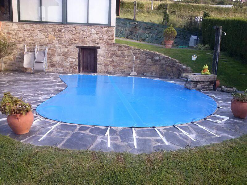 Cobertores lonas y mantas para piscinas en a coru a galicia - Manta de invierno para piscina ...
